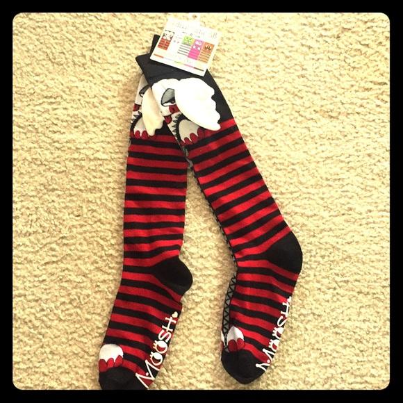 moosh walks accessories nwt knee high socks poshmark